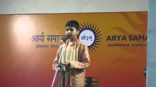 Speech on Values by Shriyank at Arya Samaj Banglore Children's Function 28 Aug 2011