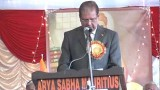 Shri Raj Keshwar Prayag Ji (Mauritius-President) (International Arya Mahasammelan 2013)